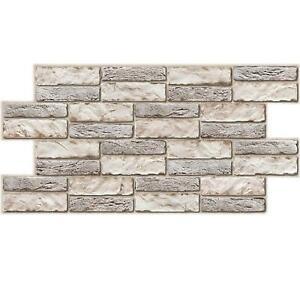 3D Stone Brick Textured PVC Interior Wall Panels Kitchen Cladding