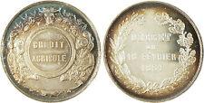 CREDIT  AGRICOLE  ,  DECRET  DU  16  FEVRIER  1861  ,  ARGENT  ABEILLE  ,  RARE