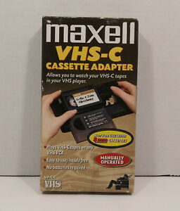 Vintage Maxell VHS-C to VHS VP-CA Manual Video Cassette Adapter Videotapes EUC