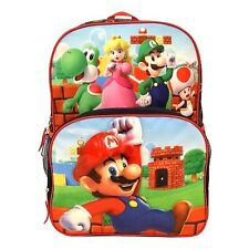 Super Mario Light Up School Backpack Book Bag Yoshi Luigi Kong Peach Toad Toy