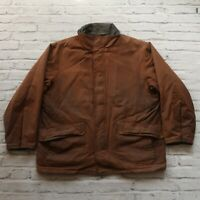 Vintage Polo Ralph Lauren Wax Jacket Size XL Brown Hunting