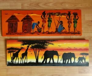 Oil canvas african art paintings