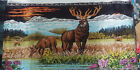 Vintage tapestry/wall hanging--MAJESTIC STAG in Meadow-made in Lebanon