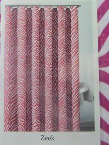 Zeek Fabric Shower Curtain Zebra Stripe Animal Print