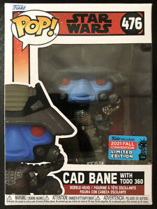 IN HAND! FUNKO POP CAD BANE WITH TODO 360 STAR WARS NYCC 2021 READY TO SHIP