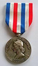 Médaille des chemins de fer argentée attribuée en 1968, signée Georges Guiraud.