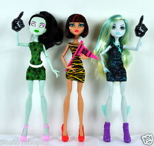 3 Monster High Student Council Doll CLEO DE NILE, SCARAH SCREAMS & LAGOONA BLUE