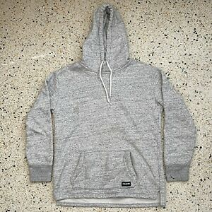 Hollister Sweater Adult Small Gray White Logo Casual Hoodie Comfort Pullover Men