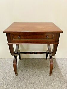 Antique Chevet, Side Table Style Charles X, Veneer Mahogany, Xxeme