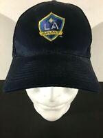 LA Galaxy Blue Mesh Trucker-style Logo Hat Adjustable Back Los Angeles