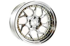 AODHAN DS-01 18x9.5 5x114.3 +15 Vacuum w' Gold Rivets (PAIR) wheels