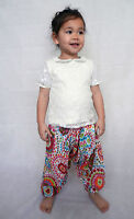 Girls boys harem pants baggy summer hippy boho trousers 3,4,5,6,7 years