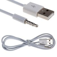 USB Data Sync Charger Cable Adapter for Apple iPod Shuffle 2nd 3rd 4th Gen 3.5mm