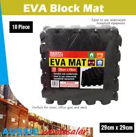 Au 10pc Soft EVA Black Mat Foam Gym Flooring Floor Mat Yoga Room Home