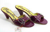 471 à Enfiler Cuir Replay Retro Sandales Sandalettes Verni Chaussures D'Été 41