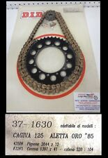 KIT CATENA CORONA PIGNONE Chain Crown Pinion CAGIVA ALETTA ORO 125 DID Z 12-41