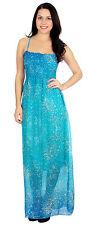 Women Summer Boho Long Sleeveless Maxi Chiffon Dress Evening Party Beach Dress