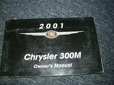 2001 CHRYSLER 300M 300 M FACTORY ORIGINAL OWNERS OPERATORS MANUAL FOR GLOVE BOX