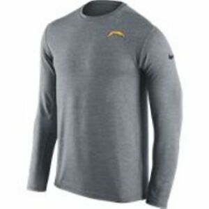New Nike Men's Dri-FIT NFL San Diego CHARGERS Long Sleeve Tee-shirt [745869-052]