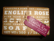 New Asquith & Somerset Made in Portugal 10.58oz Bath Bar Soap English Rose