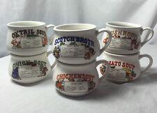 Set completo di 6 Retrò Vintage ciotole per zuppa tazze