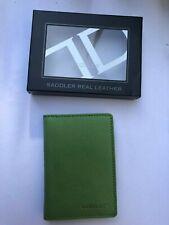 Saddler Cuero Billetera soporte de tarjeta de crédito Delgado-Verde-Nuevo