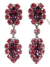 SoHo® Ohrstecker Traube navette geschliffene Kristall rose und amethyst elegant