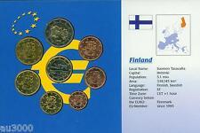 FINLAND 8 Coins Euro SET: 2€ ; 1€ ; 50 Cents 20 ; 10 ; 5; 2 ; 1 Cent (1999-2002)
