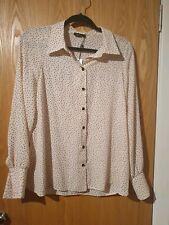 Bnwt pink and black shirt polka dot blouse Nobody's Child ASOS size 12