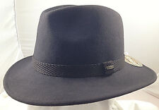 SCALA * MEN BROWN WOOL FEDORA HAT  XL * WINTER SAFARI REPELS WATER SUN FISH HUNT