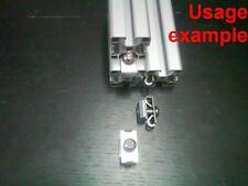 Aluminum T-slot 40x40-8 profile parallel Fastener +screw +T-nut connector, 4-set
