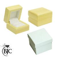 BJC 9 ct Oro amarillo Topacio Azul & Diamante Tamaño N anillo de compromiso R219
