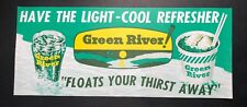 Green River Soda Pop Advertising Sign Has Fountain Glass & Beer Interest NOS