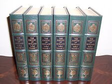 Easton Press HISTORY OF ENGLAND David Hume 6 vol Invasion Caesar revolution 1688