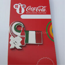 2012 London Summer Olympic Coca Cola Italy Flag Pin