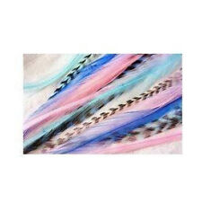 7-10 inch Mermaid Feathers 100% Real Hair 5 Feather Extensions bonded at the tip