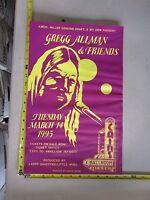 1995 Rock Roll Concert Poster Gregg Allman Friends David Dean Cains Tulsa OK