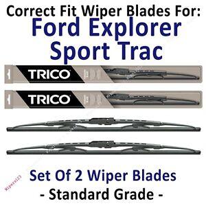 Wiper Blades 2pk Standard Wipers fit 2001-2005 Ford Explorer Sport Trac 30180x2