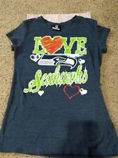 seattle seahawks t shirt girls 14-16 youth NFL football euc ships $0