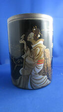 ancien pot  en faience decor peint  japon geisha japonisant epoque 1930