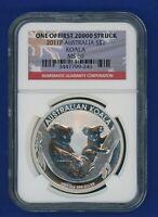 2011 P Australia Koala NGC MS69 Silver $1 Coin NGC - 1 of 1st 20k