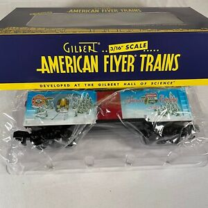 AMERICAN FLYER S SCALE MINT # 6-48384 2010 HAPPY HOLIDAYS BOXCAR