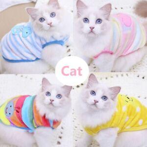 Cartoon Small Dog Clothes Pet Puppy Cute Vest Dog Cat Apparel 17 Color XXS-XXL