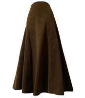 BHS Women's UK 14 CORDUROY SKIRT FLARED BOHEMIAN BROWN BOHO CHIC FROCK COUNTRY