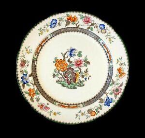 Beautiful Copeland Spode Chinese Rose Green Trim Dinner Plate