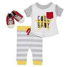 Infant Baby Boy's 3 Piece Crib Shoes Pants Cool Baby Outfit Set Size 3 Months