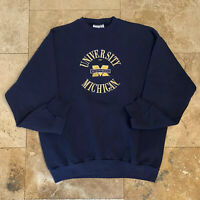 Vintage University Of Michigan Pullover Sweatshirt 90s Size XL College USA
