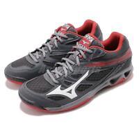 Mizuno Thunder Blade Grey Red White Men Volleyball Badminton Shoes V1GA1770-03