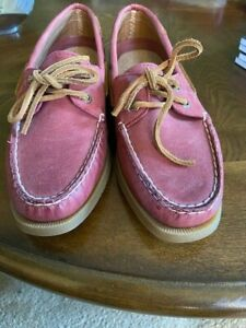 Sperry Top-Sider Women's 2-Eye Boat Shoe Size 7, New - Raspberry Color