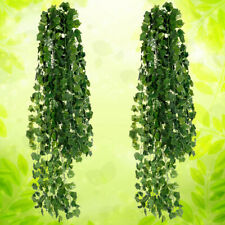Hanging Plant Leaf Artificial Foliage Ivy Vine Garland Leaves Wreath 12Pcs